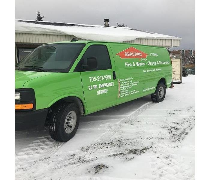 New SERVPRO van in the City of Timmins